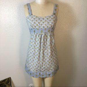 Charlotte Russe xs blue summer dress cotton